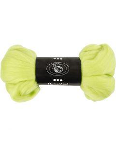 Merino wol, dikte 21 my, lime groen, 100 gr/ 1 doos