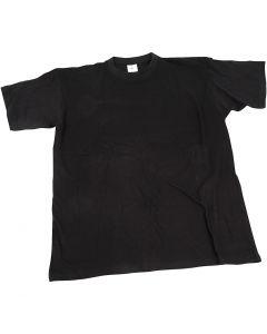 T-shirt, B: 40 cm, afm 7-8 jaar, ronde hals, zwart, 1 stuk
