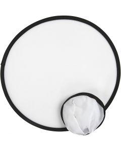 Frisbee, d: 25 cm, wit, 5 stuk/ 1 doos