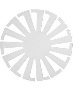 Sjabloon Mand weven, H: 6 cm, d: 8 cm, transparant, 10 stuk/ 1 doos