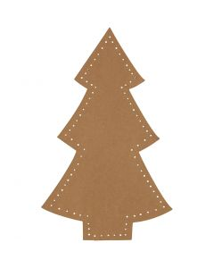Kerstboom, H: 18 cm, B: 11 cm, 350 gr, naturel, 4 stuk/ 1 doos