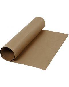Faux Leather Papier , B: 50 cm, unikleurig, 350 gr, donkerbruin, 1 m/ 1 rol