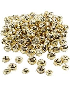 Belletjes, d: 13+15+17 mm, goud, 220 div/ 1 doos