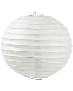 Rijstpapier lamp, Rond, d: 20 cm, wit, 1 stuk