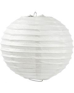 Rijstpapier lamp, Rond, d: 35 cm, wit, 1 stuk