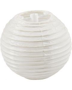 Papieren lamp, d: 7,5 cm, wit, 10 stuk/ 1 doos