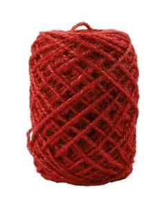 Natuurlijk hennep, dikte 1-2 mm, rood, 150 m/ 1 rol