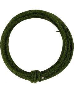 Jute koord, dikte 2-4 mm, groen, 3 m/ 1 doos