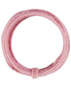 Jute koord, dikte 2-4 mm, roze, 3 m/ 1 doos