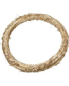 Krans van stro, d: 35 cm, dikte 3 cm, 1 stuk