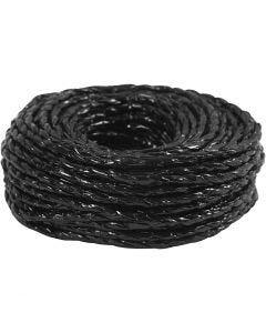 Papiergaren, dikte 3,5-4 mm, zwart, 25 m/ 1 rol