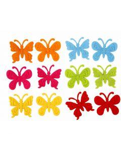 Vlinders van vilt, afm 3 cm, dikte 1,5 mm, 160 stuk/ 1 doos
