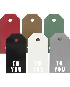Cadeaulabels, TO YOU, afm 5x10 cm, 300 gr, 6x15 stuk/ 1 doos