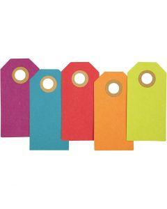Cadeaulabels, 250 gr, diverse kleuren, 30 stuk/ 1 doos