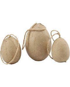 Eieren, H: 3+4+5 cm, 6 stuk/ 1 doos