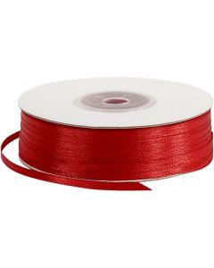 Satijnlint, B: 3 mm, rood, 100 m/ 1 rol