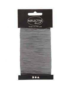 Reflecterend draad, B: 0,8-1 mm, grijs, 100 m/ 1 doos