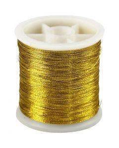 Naaigaren, dikte 0,15 mm, goud, 100 m/ 1 rol