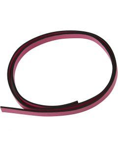 Band van imitatie leer, B: 10 mm, dikte 3 mm, roze, 1 m/ 1 doos