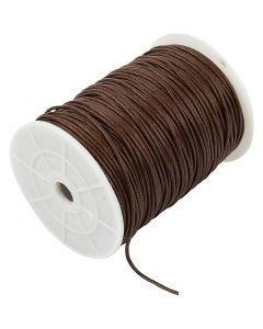 Katoenkoord, dikte 2 mm, bruin, 100 m/ 1 doos