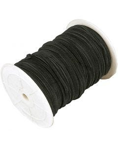 Imitatie suède, dikte 3 mm, zwart, 100 m/ 1 rol
