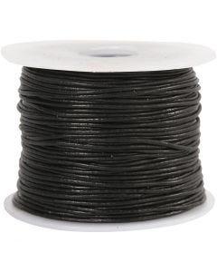 Leerkoord, dikte 1 mm, zwart, 50 m/ 1 rol