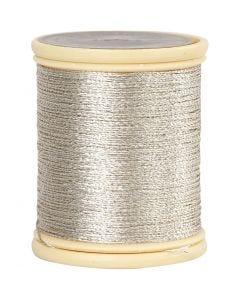 DMC metallic draad, dikte 0,36 mm, zilver, 40 m/ 1 rol