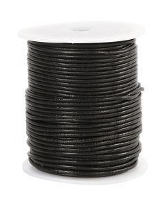 Leerkoord, dikte 2 mm, zwart, 50 m/ 1 rol