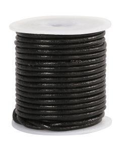 Leerkoord, dikte 2 mm, zwart, 10 m/ 1 rol