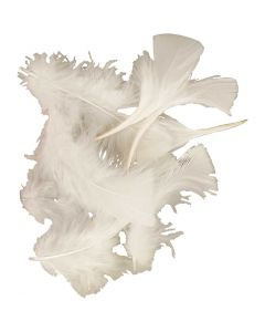 Veren, afm 7-8 cm, wit, 50 gr/ 1 doos