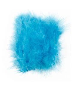 Veren, afm 5-12 cm, turquoise, 15 stuk/ 1 doos