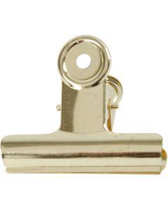 Metalen klem, B: 7,5 cm, koper, 6 stuk/ 1 doos