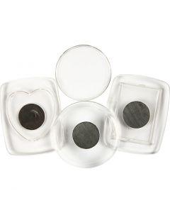 Koelkastmagneten, afm 4,5-5,5 cm, 3 stuk/ 1 doos