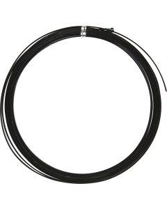 Alu draad, plat, B: 3,5 mm, dikte 0,5 mm, zwart, 4,5 m/ 1 rol
