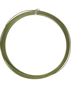Alu draad, plat, B: 3,5 mm, dikte 0,5 mm, groen, 4,5 m/ 1 rol