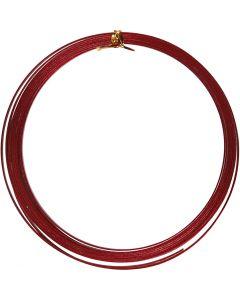 Alu draad, plat, B: 3,5 mm, dikte 0,5 mm, rood, 4,5 m/ 1 rol