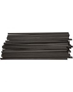 Constructie rietjes, L: 12,5 cm, d: 3 mm, zwart, 800 stuk/ 1 doos