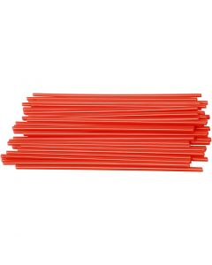Constructie rietjes, L: 12,5 cm, d: 3 mm, rood, 800 stuk/ 1 doos
