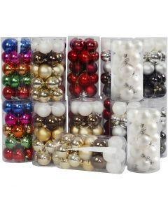 Kerstballen, d: 6 cm, 24x20 stuk/ 1 doos
