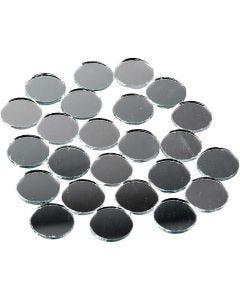 Spiegel mozaiek tegels, ronde, d: 18 mm, 400 stuk/ 1 doos