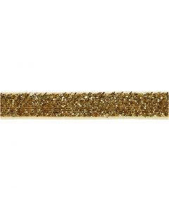 Lint, B: 10 mm, goud, 5 m/ 1 rol