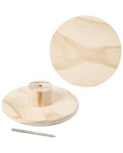 Kapstok, rond, d: 15 cm, 1 stuk