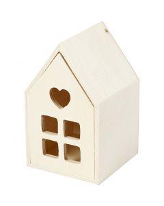Huis met lade, H: 10,8 cm, B: 6,8 cm, 1 stuk