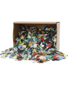 Mozaiek, afm 8-20 mm, diverse kleuren, 2 kg/ 1 doos