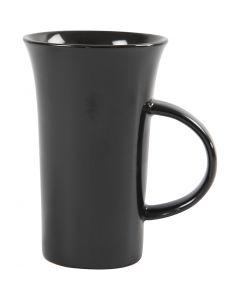 H: 15 cm, d: 9,5 cm, zwart, 6 stuk/ 1 karton