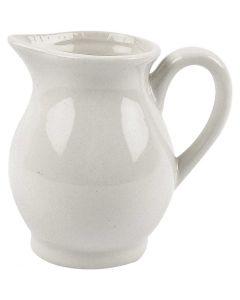 Melkkan, H: 8 cm, 120 ml, wit, 12 stuk/ 1 karton
