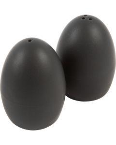 Zout & Peper set, H: 7 cm, matt, zwart, 6 set/ 1 karton
