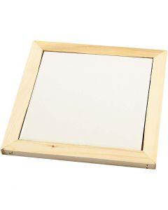 Onderzetter met houten lijst, afm 15x15 cm, 1 stuk