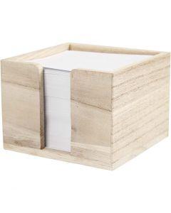 Memo houder, afm 9,5x9,5x7 cm, 1 stuk