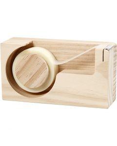 Plakbandhouder, L: 14,3 cm, gatgrootte 2,5 cm, 1 stuk